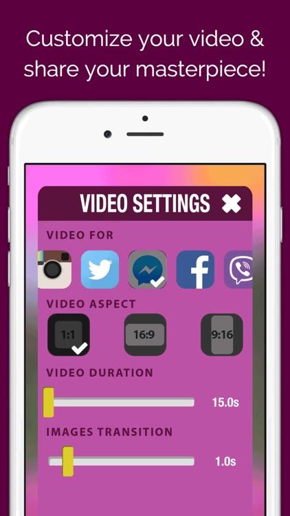 Pics to Video Slideshow Maker screenshot-4