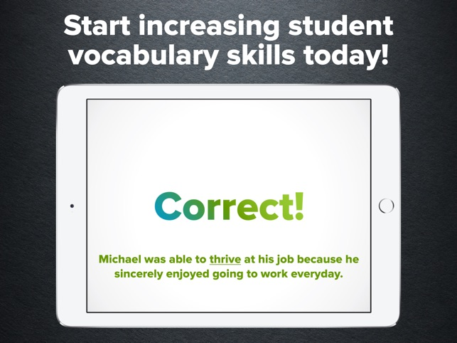 6th Grade Vocabulary Challenge Screenshot