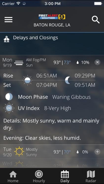 WAFB First Alert Weather screenshot-3