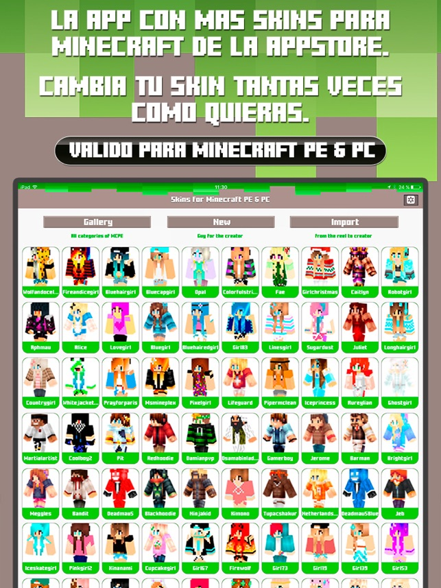 Skins For Minecraft PE PC Free Skins En App Store - Skins para minecraft pe para hombre
