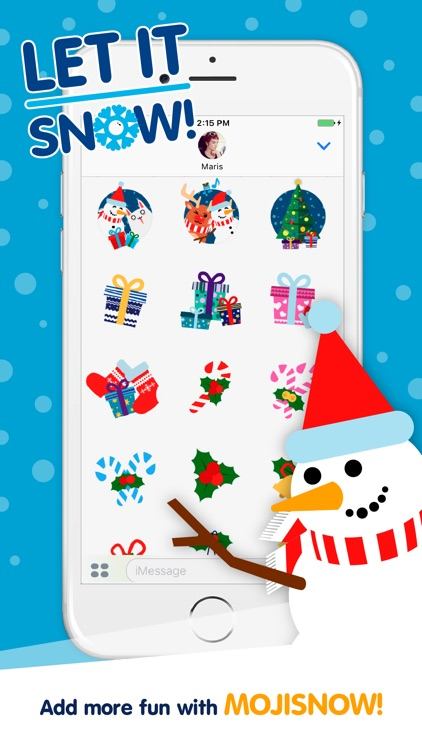 Moji Christmas Animated Stickers