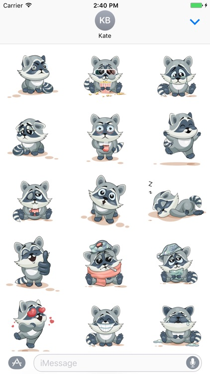 Sticker Me: Funny Raccoon