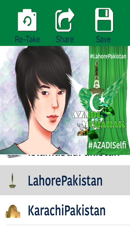 Azadi Selfie - Pakistan's independence day 14 August, A Green Day To Take and Share Selfies