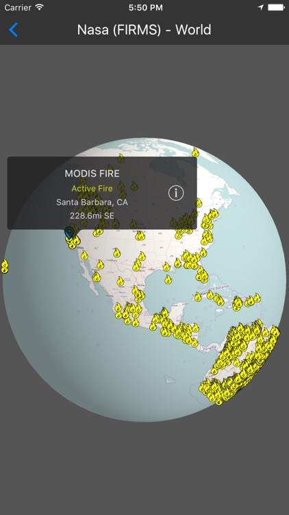Fires - 3D Fire Map screenshot-3