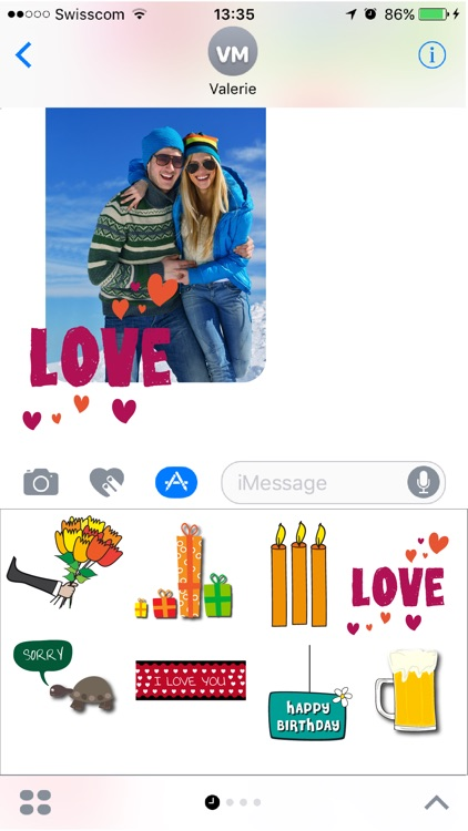 Appygraph - Birthday cards + stickers for iMessage