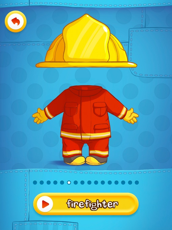 Dress Up : Professions - Occupations puzzle game & Drawing activities for preschool children and babies by Play Toddlers (Free Version for iPad) screenshot-1