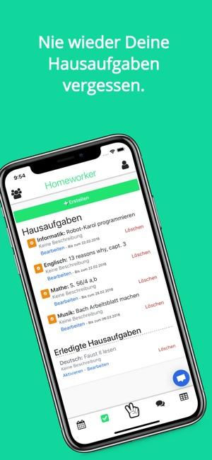 Homeworker - Schulplaner on the App Store
