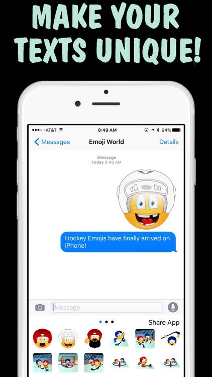 Hockey Emojis Keyboard - New Emojis by Emoji World screenshot-3