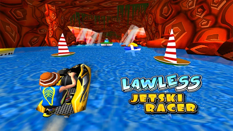 Lawless Jetski Racer -Free ( 3d Stunt Race Games for Boys and Girls ) screenshot-3