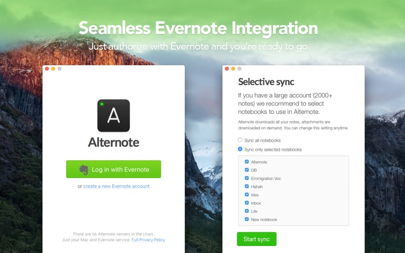 Alternote — the Beautiful Note-taking App for Evernote Screenshot