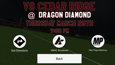 RRHS Dragon Baseball screenshot two