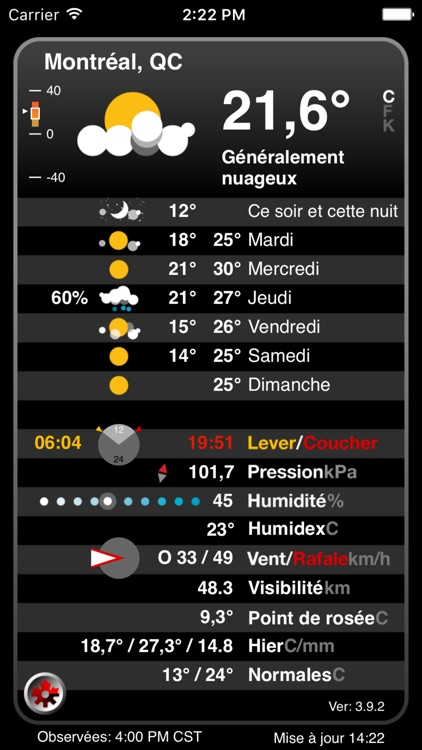 Atmosphérique Pro – Canadian Weather from EC screenshot-3