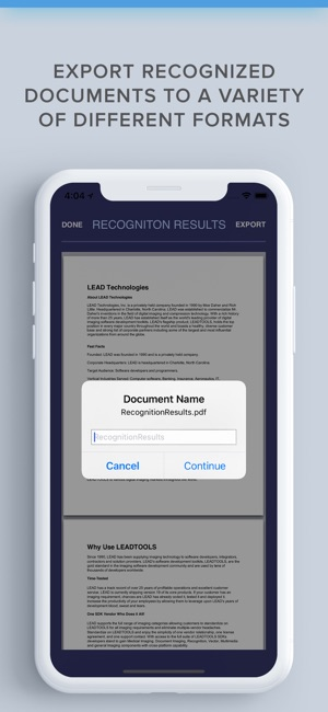 OCR Scanner with LEADTOOLS SDK on the App Store