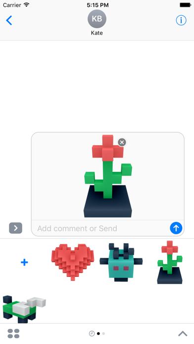 Screenshot #2 pour DIY Blocky Stickers
