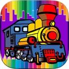 子供のための列車ぬりえゲーム - ゲームを学ぶ子供たち icon
