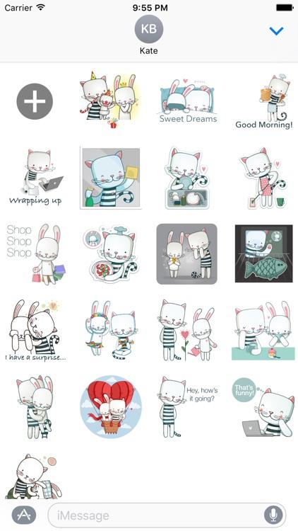 Bunny & Cat - MYOSE - Make Your Own Sticker Emoji