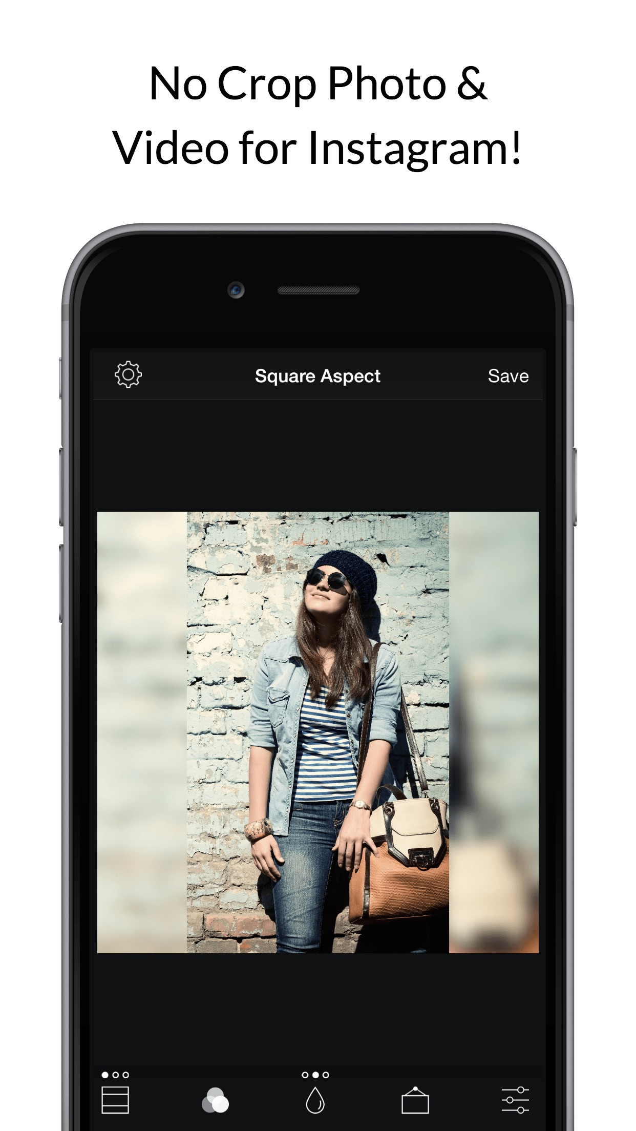 Square Fit Photo Video Editor Screenshot