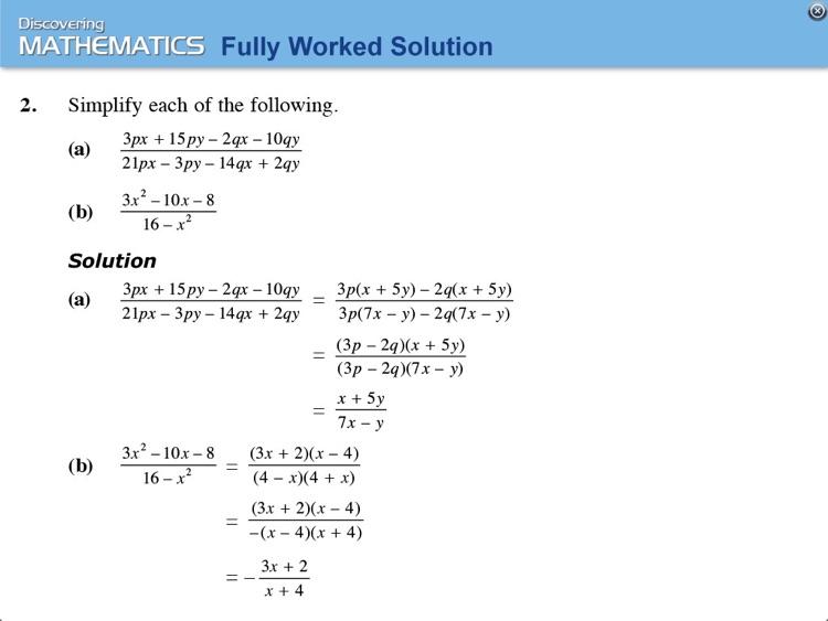 Discovering Maths 2A (Express) screenshot-3