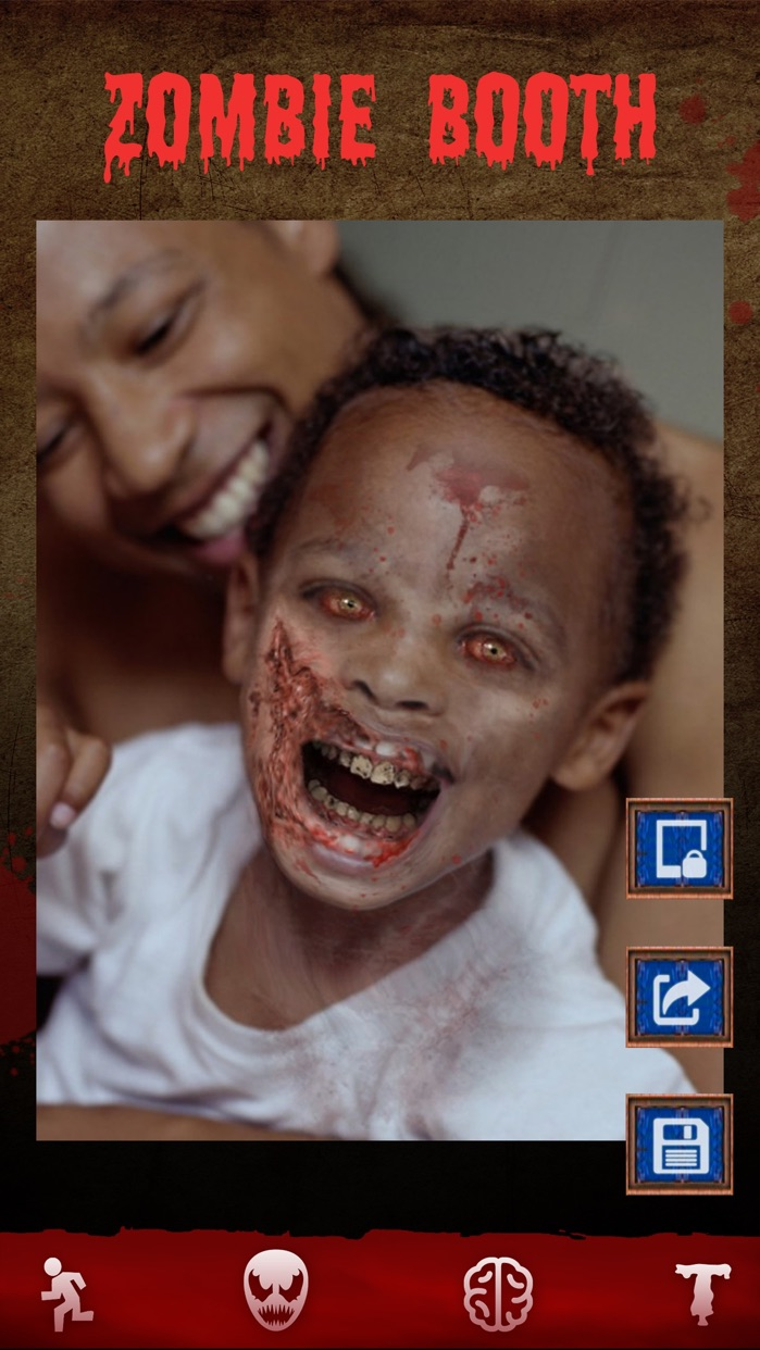 Zombie Games - Face Makeup Cam Screenshot