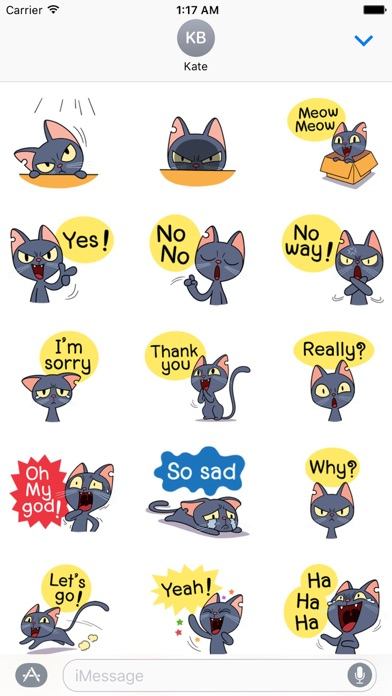 Lovely And Naughty Cat Sticker screenshot two