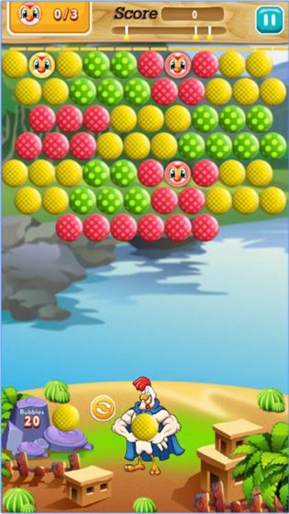 Chicken Bubble Shooter Farm : Chicken hero screenshot-4