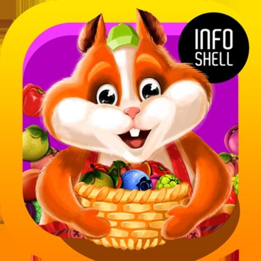Fruit Hamsters: Фрукты 3 в ряд