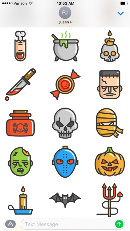 Fun Halloween Stickers screenshot-0