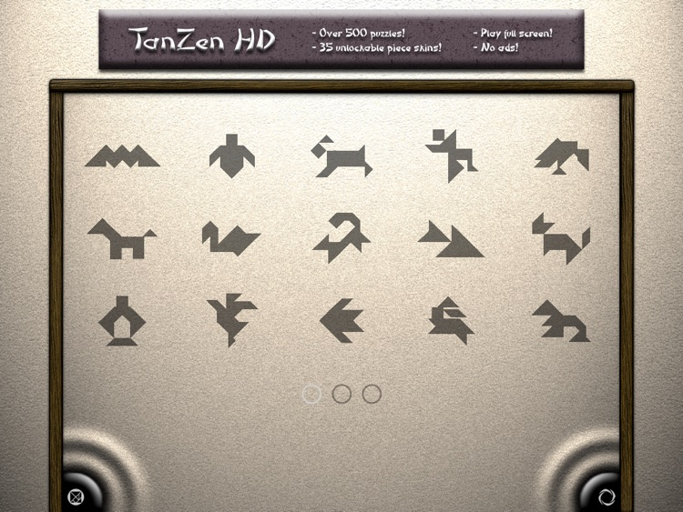 TanZen HD Free - Relaxing tangram puzzles screenshot-1