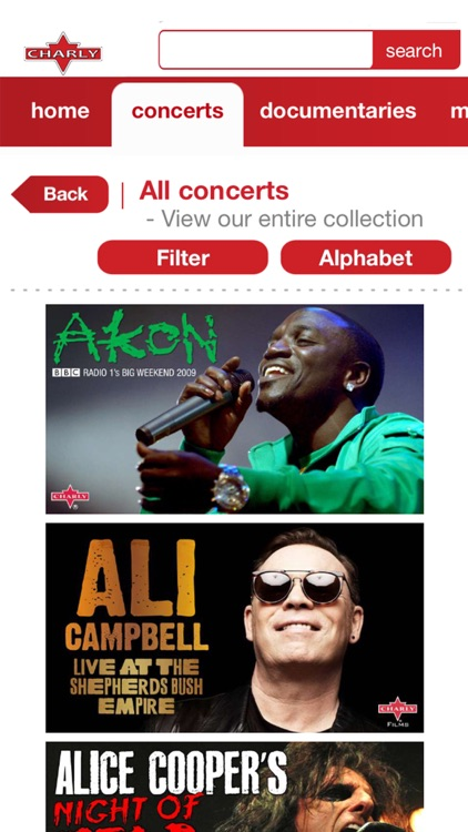 Charly Concerts App screenshot-1