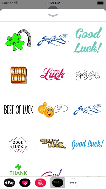 Best Of Luck Stickers 2018