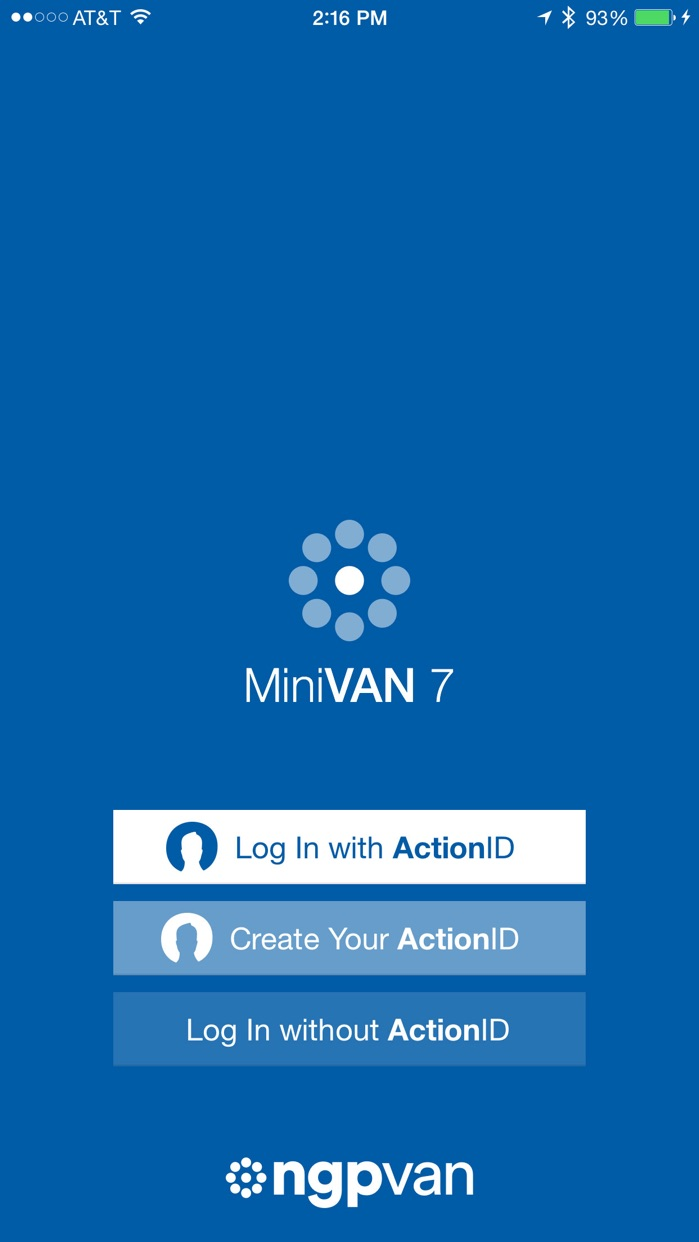 MiniVAN Touch Screenshot