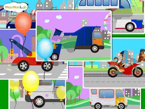 くるま, トラック, しょうぼうしゃ -子供のためのゲームのおすすめ画像4