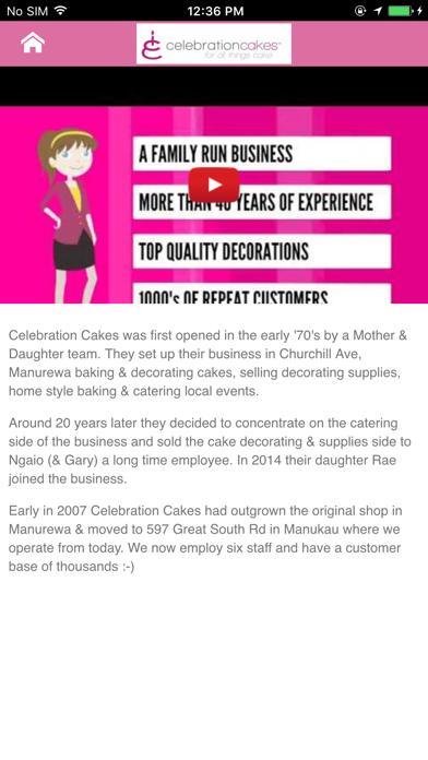 Celebration Cakes NZ screenshot two