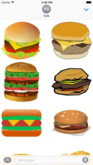 漢堡包貼紙屏幕截圖1