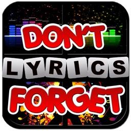 Don't forget the lyrics 2013