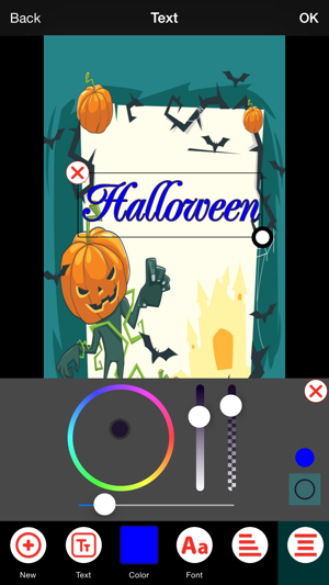 Halloween invitation cards maker na app store capturas de ecr do iphone stopboris Image collections