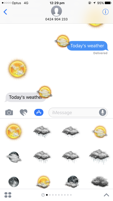 Weather Stickers for Messageのおすすめ画像5