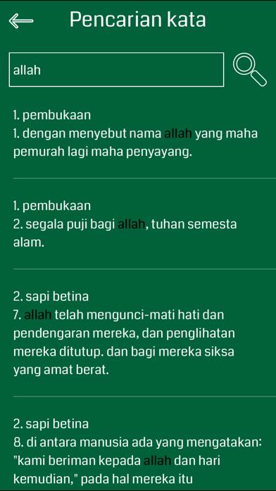 Indonesian Quran screenshot one