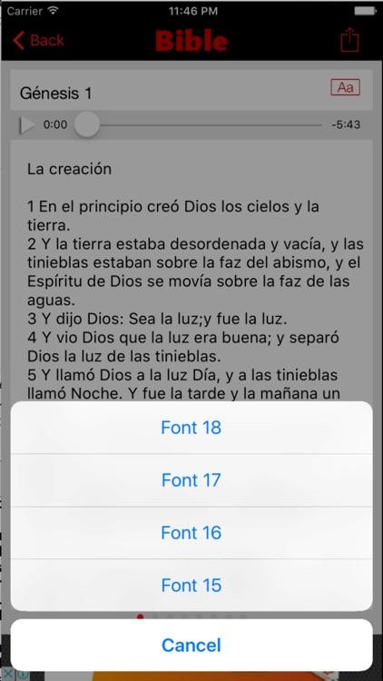 Biblia Reina Valera (Audio) screenshot-4