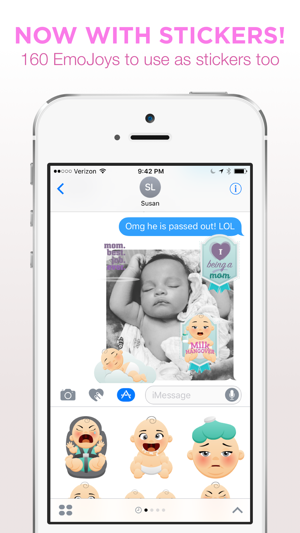 ‎Bundle Of EmoJoy - Emojis for New Moms Screenshot