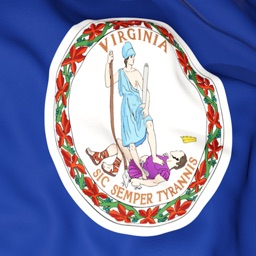 Virginia Flag Stickers