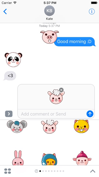 Animal Funny Sticker - Emoji