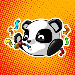 Cute Panda - iMessage Stickers