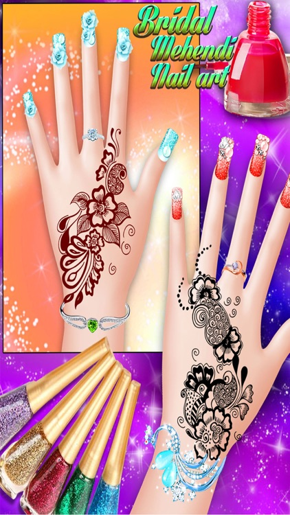 Bridal Mehndi And Nail Art Manicure Mehndi Designer Games For