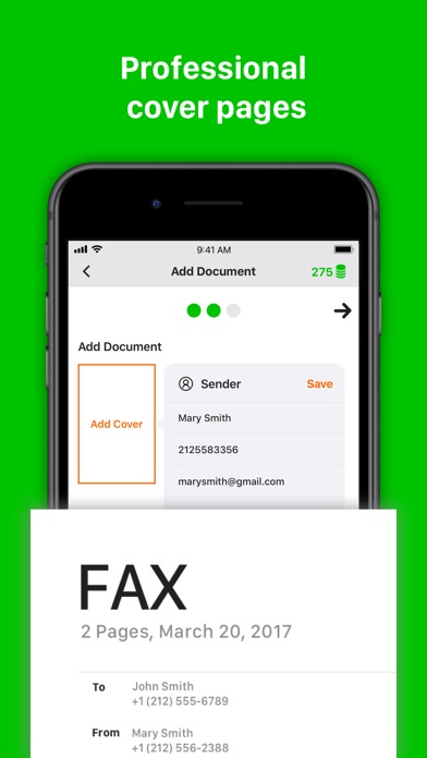 Fax from iPhone - Tiny Fax Screenshot
