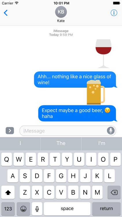 Beer and Wine Sticker Pack for iMessage screenshot-3