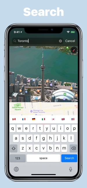 We maps 04 3d 2d world map on the app store gumiabroncs Image collections