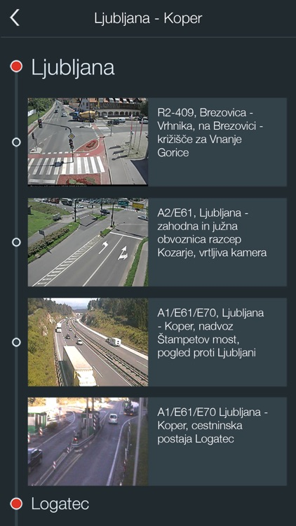 AMZS, prometne informacije screenshot-3