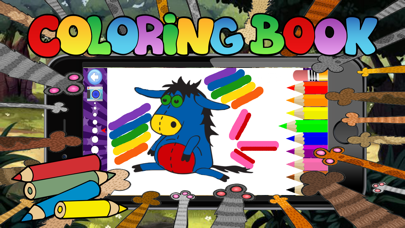 cute animal coloring for kid-learn skill easy toddler game free screenshot one