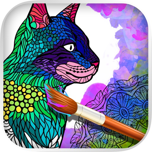 Cats & kittens - Mandalas coloring book for adults iOS App